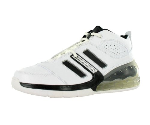 adidas Men's Bounce Artillery II Basketball Shoe,White/Black/Silver,18 M