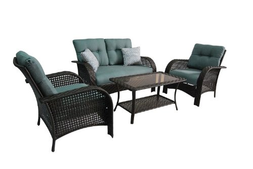 Be The Envy Of Your Friends With This Stylish Comfortable Outdoor Patio  Furniture Set Which Is. This 4 Piece Wicker Patio Cushioned Conversation Set Will Enhance