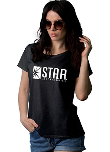 Decrum Black Short Sleeve Tshirts for Women | Star Lbs, XL ()