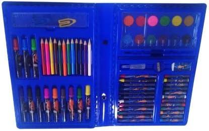 Maleta Escolar Pintura Canetinha Estojo Meninos 68 Peças