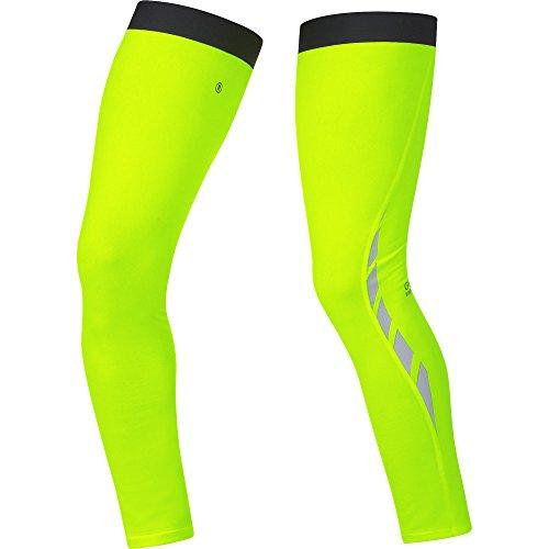 GORE BIKE WEAR, Damen und Herren, Fahrrad-Beinwärmer mit Neon-Farbe, Visibility Thermo Leg Warmers, ATVISL, neon yellow, Gr. M