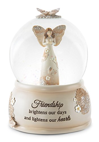 Pavilion Gift Company 19112 Friend Musical Water Globe with Angel Figurine, 6