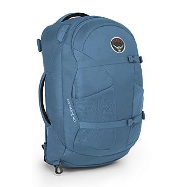 Osprey Packs Farpoint 40 Travel Backpack, Caribbean Blue, Small/Medium