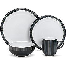 Denby Jet Stripes 16 Pc Dinnerware Set
