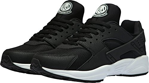 Paperplanes-1358 Sneakers Basse In Pelle Casual Unisex Moda Bianche Nere