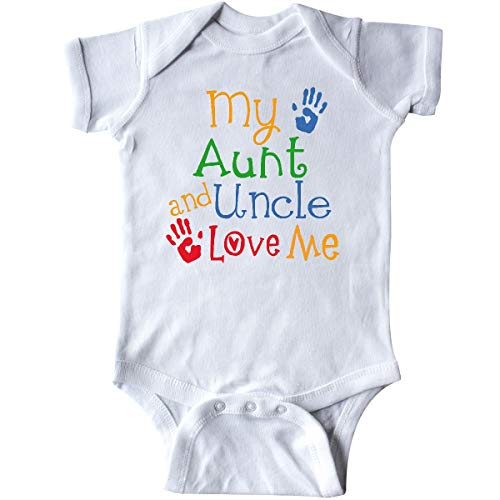 inktastic My Aunt and Uncle Love Me Infant Creeper 6 Months White