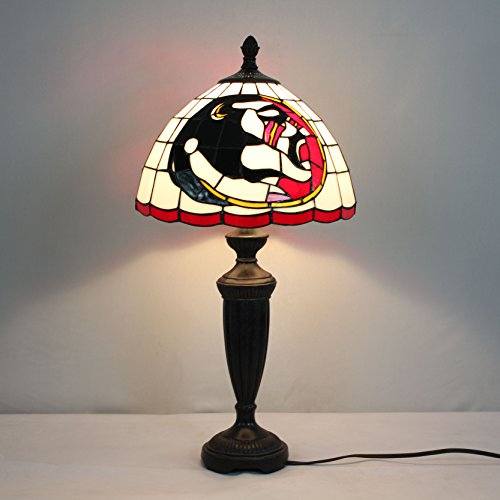 Royal- 12-inch NCAA Fresno State Bulldogs Stained Glass Table Lamp