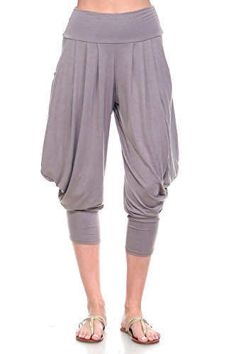 Simplicitie Women's Soft Yoga Sports Dance Harem Pants - Mocha, Large - Made in USA by SimplicitieUSA