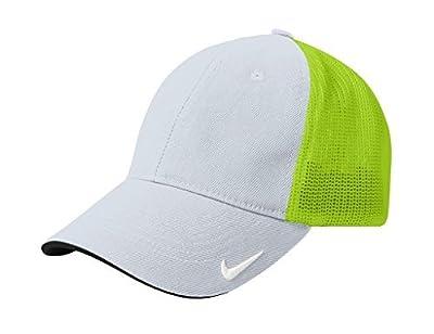 Nike Golf Mesh Back Cap, Medium/Large, Gray-Neon