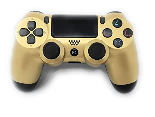 PS4 Controller V2 CHASDI Wireless Bluetooth with USB Cable for Sony Playstation 4 Compatible with Windows PC & Android OS (Gold)