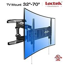 Loctek Curved Panel UHD HD TV Wall Mount Bracket Articulating Arm Swivel & Tilt