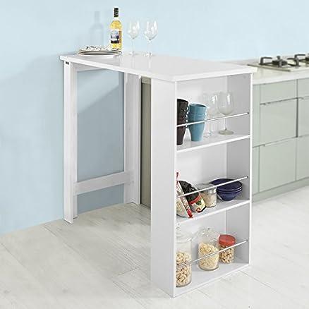 SoBuy® Tavolo alto da bar moderni,Bancone stile bar,Tavolo cucina ...