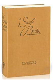 Bible Neg Macarthur Souple Similicuir Onglets Brun par MacArthur