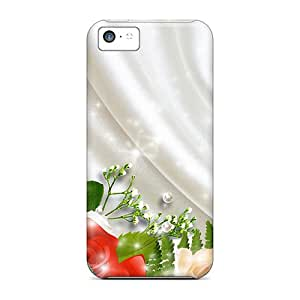 Tough Iphone JjF16723XmRH Cases Covers/ Cases For Iphone 5c(roses On White Satin)