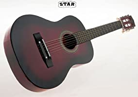 0696ebcfa71bb Amazon.com  Star Kids Acoustic Toy Guitar 31 Inches Color Red ...