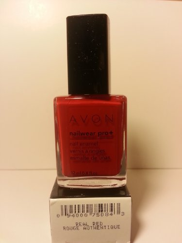 - Avon Nail Polish Enamel Real Red Rouge Nailwear Pro+