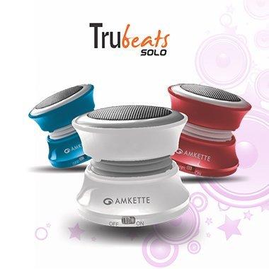 Amkette Trubeats Solo Portable Mobile/Tablet Speaker  White,1.0 Channel