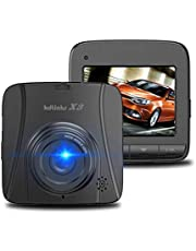 KDLINKS X3 2.7K Super HD 2688x1520 Wide Angle Dashboard Car DVR Vehicle Dash Cam with G-Sensor & WDR Night Mode & Loop Recording, Support 64/128GB