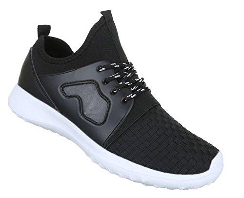 Damen Freizeitschuhe Schuhe Runner Sneakers Sportschuhe Schwarz Gold 36 37 38 39 40 41