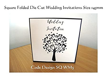 the invite factory personalised wedding invitations folded square