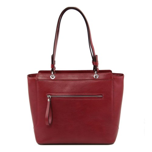 Tuscany Leather , Damen Schultertasche Rot rot
