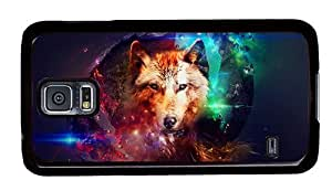 Hipster original Samsung Galaxy S5 Case abstract wolf art PC Black for Samsung S5