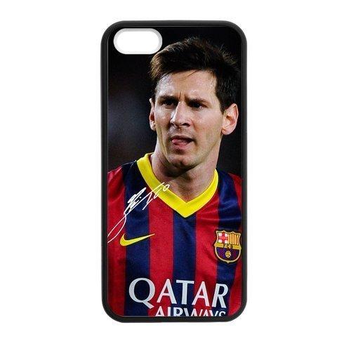 Hybrid Case Lionel Messi Vintage Pattern Protector Custom Case for iPhone 5,5S TPU J-15