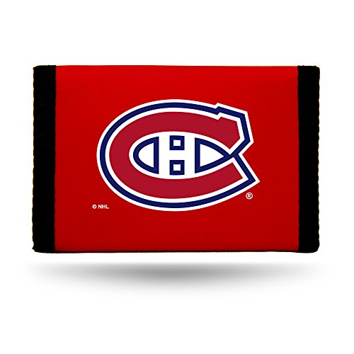 Montreal Canadiens Red Nylon Tri-Fold Wallet