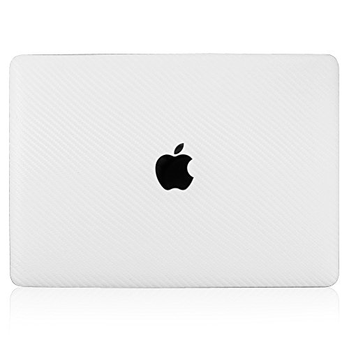ArmorSuit-MilitaryShield-Apple-MacBook-2015-White-Carbon-Fiber-Full-Body-Skin-Protector-Cover-Anti-Bubble-w-Lifetime-Replacements