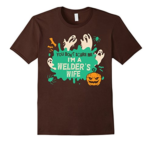 Mens You Don't Scare Me, I'm A Welder's Wife Halloween Costume XL Brown