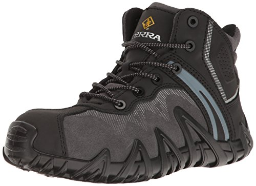 Kodiak Steel Toe Shoes - Terra Men's Venom MID Cut Work Shoe, Black, 9.5 M US