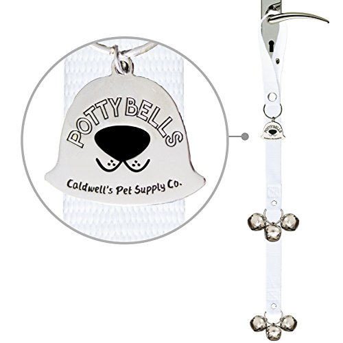 Caldwells Pet Supply Co. Potty Bells Housetraining Dog Doorbells for Dog Training and Housebreaking Your Doggy. 1.4 Inch Dog Bell with Doggie Doorbell and Potty Training for Puppies (White)