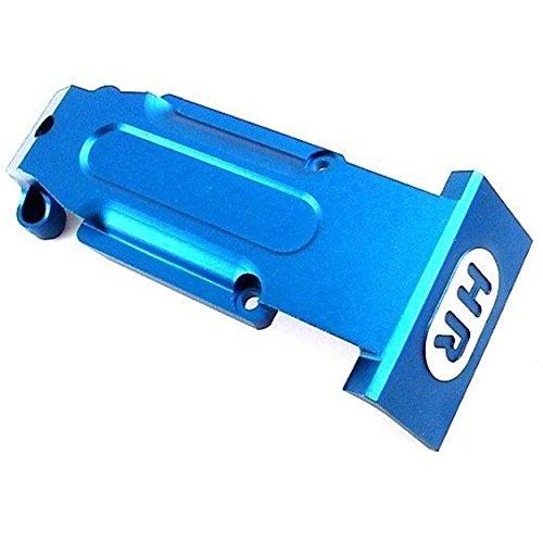 Hot Racing Rvo331R06 Aluminum Rear Skid Plate, (Blue) for Traxxas Revo & Slayer Blue Rear Skid Plate
