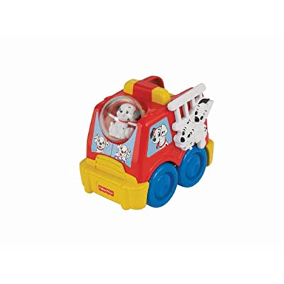 Fisher-Price Amazing Animals 101 Dalmatians Rollin' Round Fire Truck: Toys & Games