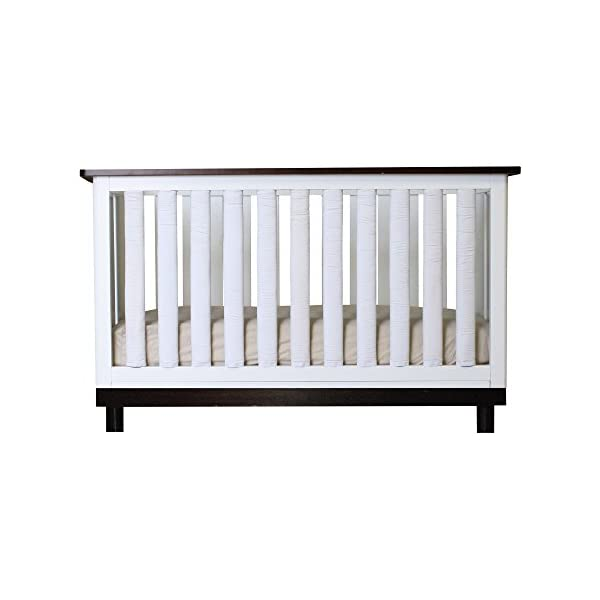 Pure Safety Vertical Crib Liners in True White Cotton 38 Pack