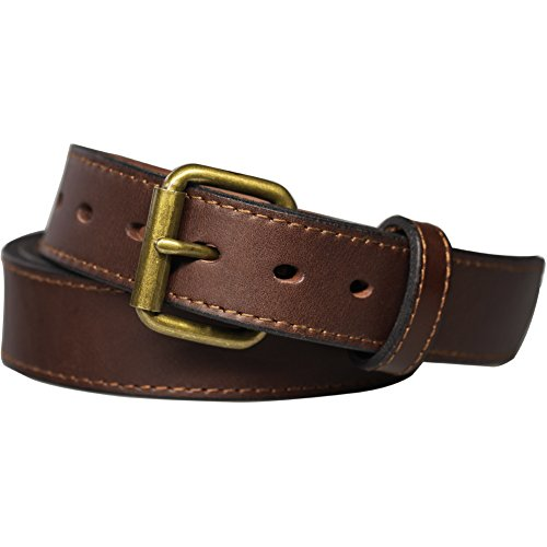 Kmioc Concealed Carry CCW Leather Gun Belt 1 1/2 inch 100% Full Grain Thick Leather Belt for Gun Carry