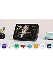 "Introducing Echo Show 8 | 8"" HD smart display with Alexa, Charcoal fabric"