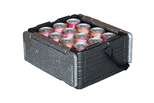 Flip-Box Mini Iceless Insulation Box Grey - Fits 12 Cans, Collapsible, Lightweight, Portable - Great for a Lunch Box, Parties, Picnics, Camping, Beach, Tailgating, Fishing, Hunting, Boating and More!
