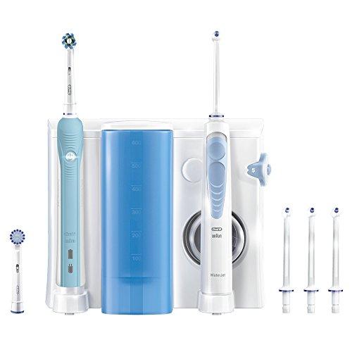 Oral-B WaterJet Munddusche + Oral-B PRO 700 elektrische wiederaufladbare Zahnbürste
