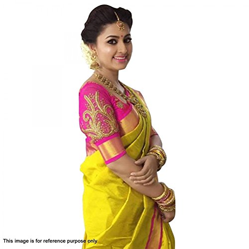 Avsar Prints Women's Cotton Saree With Blouse Piece Yellow (Print Saree)