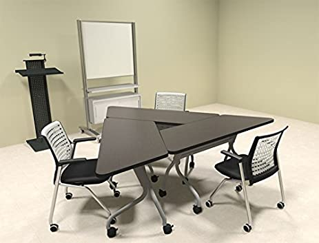 Amazoncom Pcs Triangle Shape Training Conference Table Set - Triangle conference table