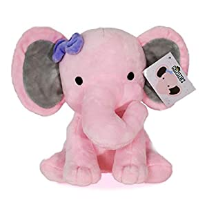 KINREX Stuffed Elephant Animal Plush - Toys for Baby, Boy, Girls - Great for Nursery, Room Decor, Bed - Pink - Measures 9 Inches
