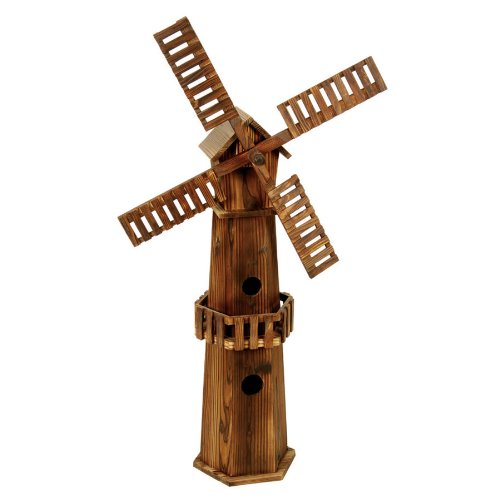 Ethan Taylor 50808302 Two Story Burnished Finish Garden Windmill Bird House