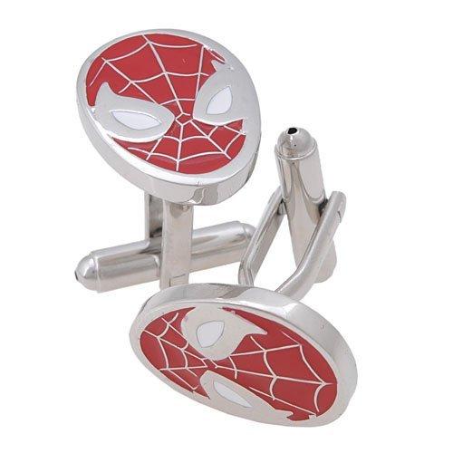 GoodBZ Spiderman Super Hero Cufflinks,Red