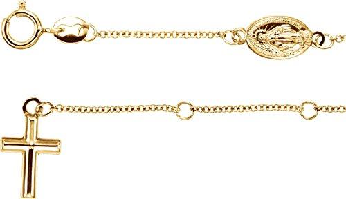 Rosary Bracelet in 14k Yellow Gold 14k Yellow Gold Rosary Bracelet