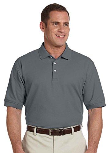 Pima Cotton Pique Polo Shirt (Devon & Jones Men's Pima Pique Polo Shirt , GRAPHITE, X-Large)