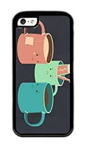 Apple Iphone 5C Case,WENJORS Uncommon Mugs Soft Case Protective Shell Cell Phone Cover For Apple Iphone 5C - TPU Black