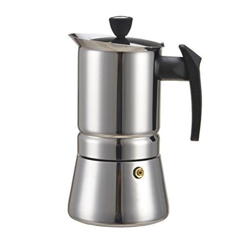 Generic 300 ML, 6 Cup Stainless Steel Moka Espresso Latte Pe