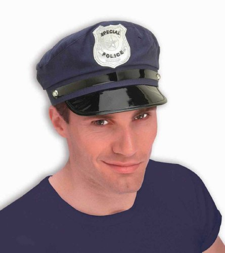 [Forum Novelties 52735 Policeman Cloth Hat, Blue] (Policeman Hat Costume)