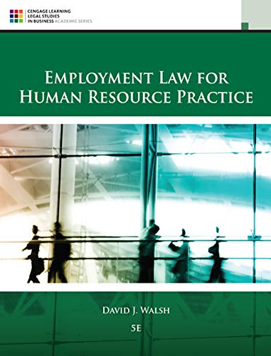 Employment Law for Human Resource Practice by imusti